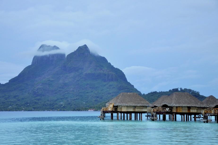 Le lagon de Bora Bora, l'un des plus beaux du monde. (Photo Stéphanie Morin, La Presse)