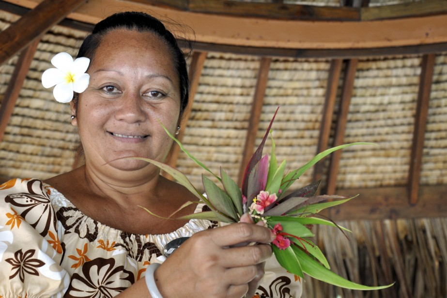 La fleur de tiaré, portée à l'oreille tant des hommes que des femmes. (Photo Stéphanie Morin, La Presse)
