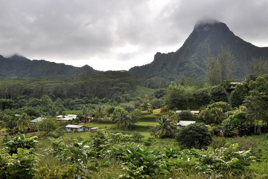Un village, au coeur de l'île de Moorea. (Photo Stéphanie Morin, La Presse)