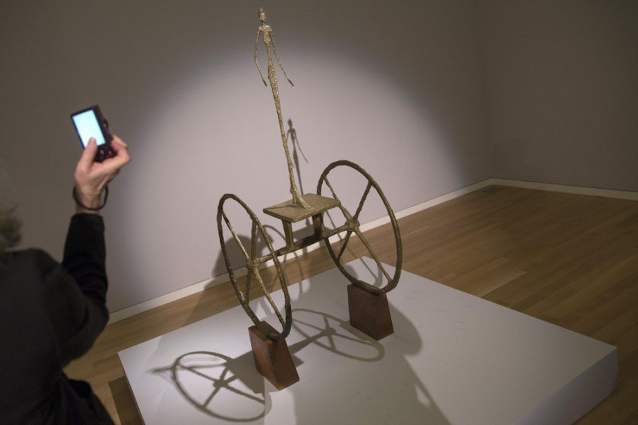 Chariot de Giacometti.... (Photo: Reuters)