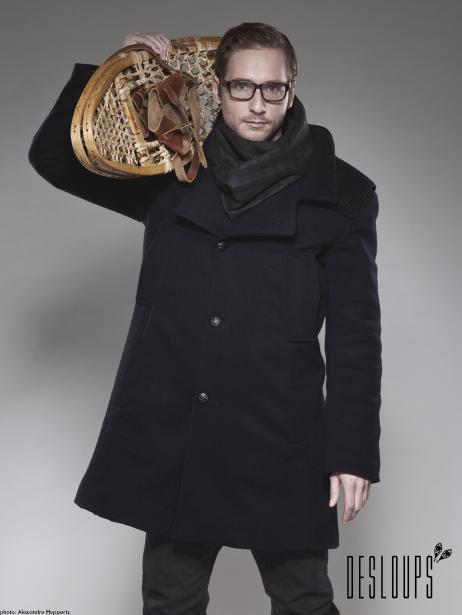 Manteau en laine pour homme, Manteaux Desloups, 625$, offert en ligne, autres couleurs disponibles. (Photo fournie par Manteaux Desloups)