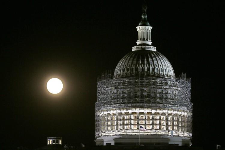 LeCapitole des États-Unis est présentement en rénovations.... (Photo: Reuters)