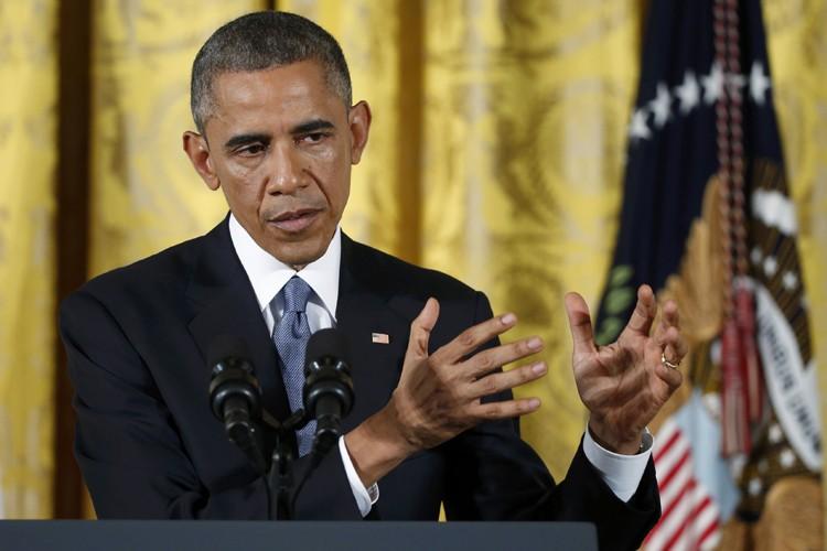 Barack Obama a réitéré sa détermination à agir... (Photo: Reuters)