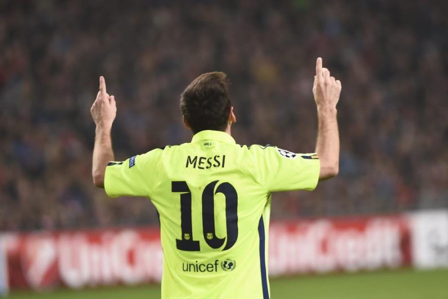 Lionel Messi a inscrit deux buts et a rejoint Raul au sommet des... (Photo: AFP)