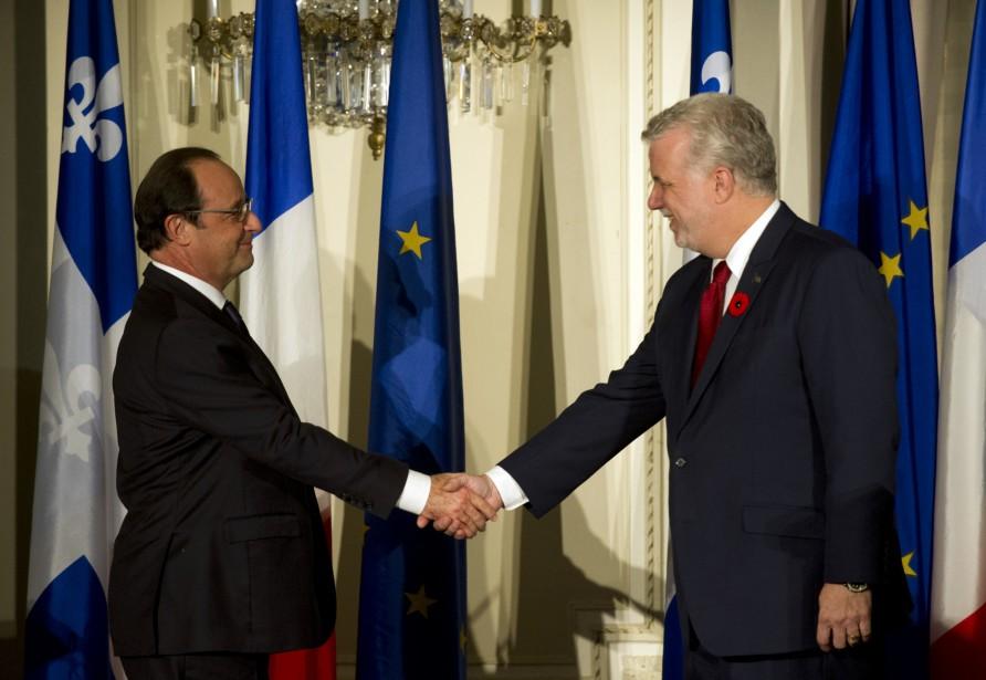 Le président français, François Hollande, et le premier... (PHOTO ALAIN JOCARD, ARCHIVES AGENCE FRANCE-PRESSE)