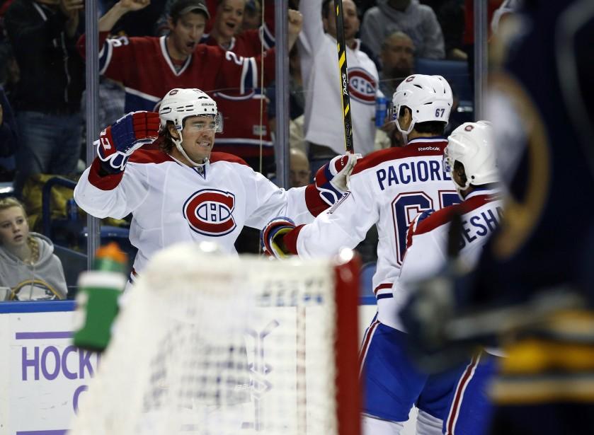Dès la 19e seconde de jeu en troisième période, Parenteau a récolté son premier but - et son premier point - depuis le 16 octobre contre les Bruins de Boston. (Photo Kevin Hoffman, AP)