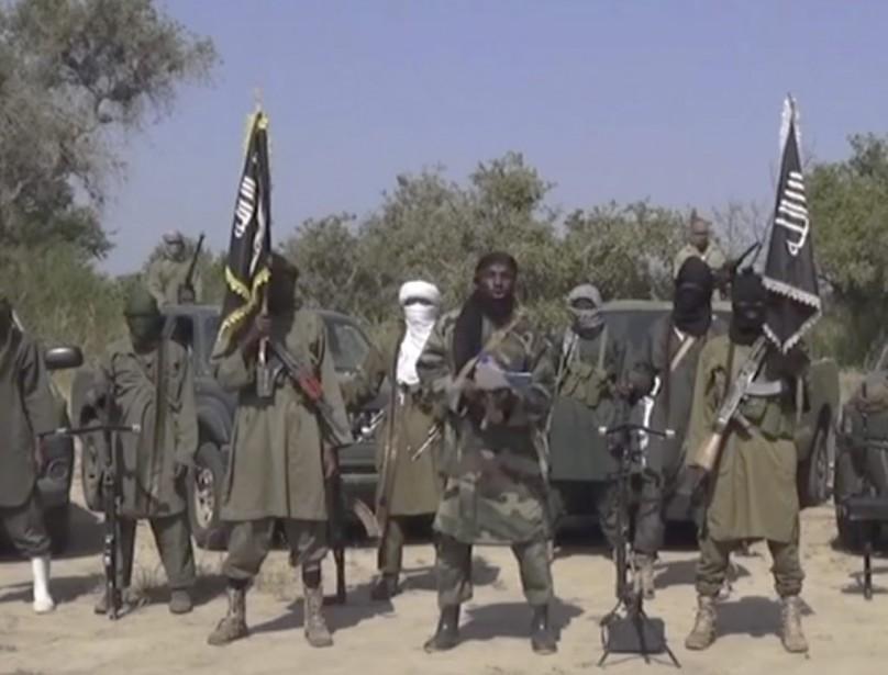 Des combattants du groupe terroriste Boko Haram.... (PHOTO ARCHIVES AP)