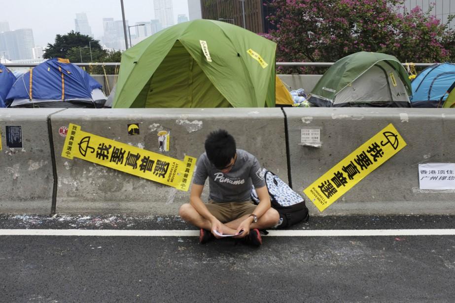 Le nombre de manifestants qui réclament l'instauration d'un... (PHOTO VINCENT YU, ARCHIVES AP)