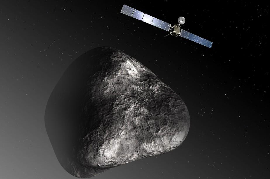 Outre son compte Twitter, Rosetta a un compte... (PHOTO C. CARREAU / MEDIALAB, AFP)