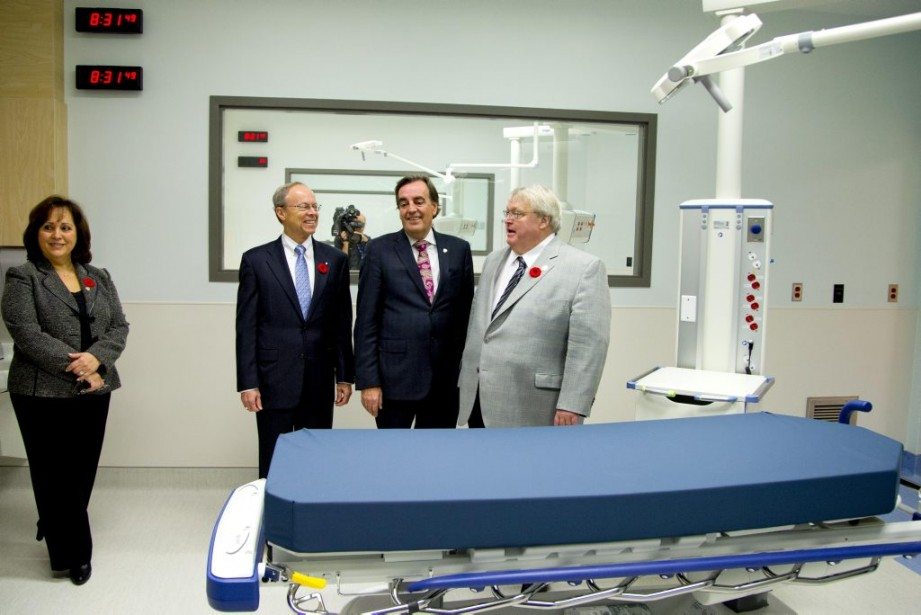 Robert G. Card, Normand Rinfret et Gaétan Barrette. (PHOTO ALAIN ROBERGE, LA PRESSE)