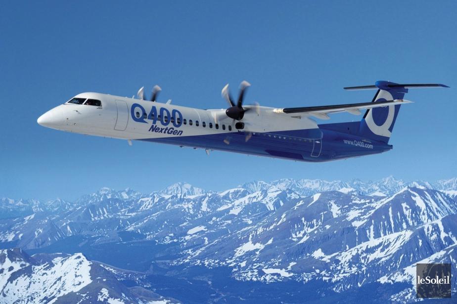 Un Bombardier Q400 semblable à celui impliqué dans... (Photothèque Le Soleil)