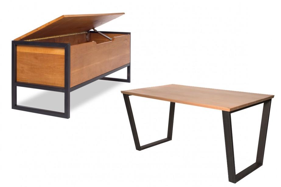 Le banc Stone et la table de travail... (Photo fournie par les Manufacturiers de Gaspé)