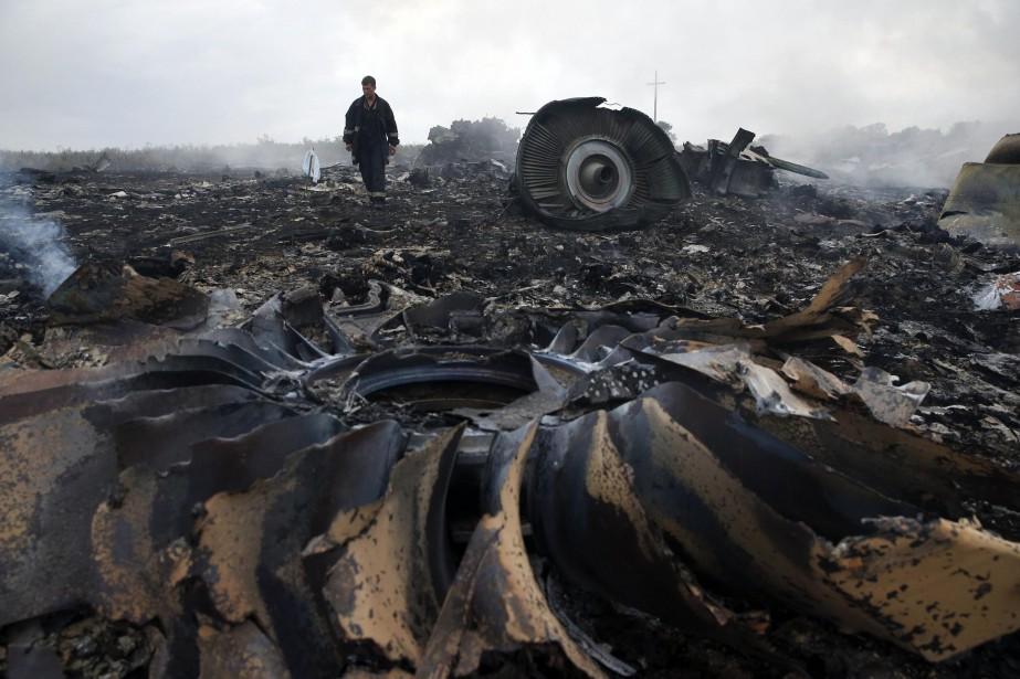 L'écrasement de l'avion de Malaysia Airlines, qui avait... (Photo Maxim Zmeyev, archives Reuters)