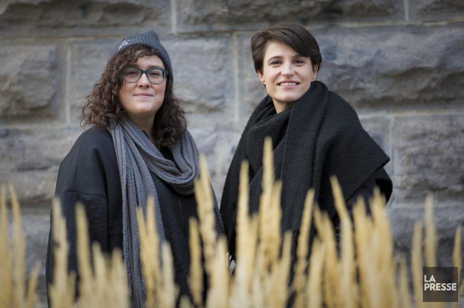La directrice de Kino, Marie-Ève Lavoie, accompagnée de... (PHOTO ANDRÉ PICHETTE, LA PRESSE)