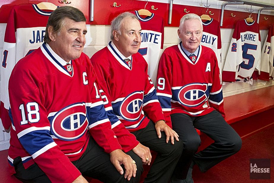 Serge Savard, Guy Lapointe et Larry Robinson en... (Photo Hugo-Sébastien Aubert, La Presse)