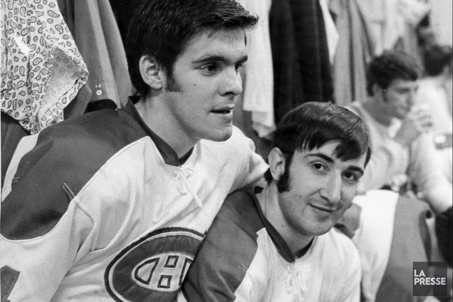 Réjean Houle et Guy Lapointe en novembre 1970.... (Photo René Picard, archives La Presse)