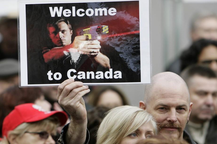 Une manifestation a eu lieu à Vancouver, le... (Photo Lyle Stafford, archives Reuters)