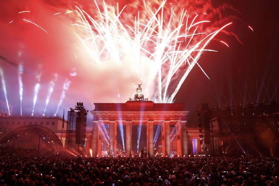 Festivités à Berlin, 25 ans après la chute du Mur