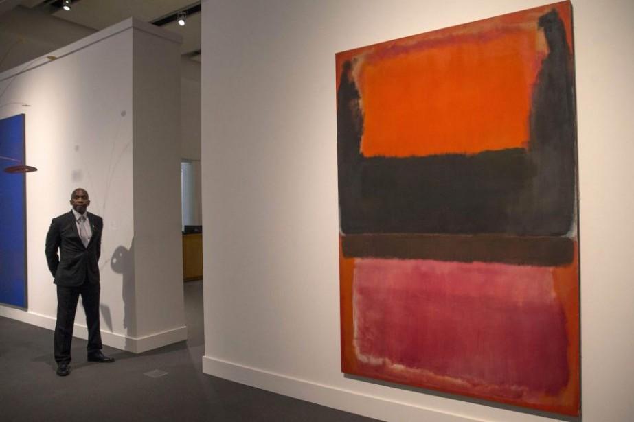 No. 21 (Rouge, Brun, Noir et Orange)... (Photo: Reuters)