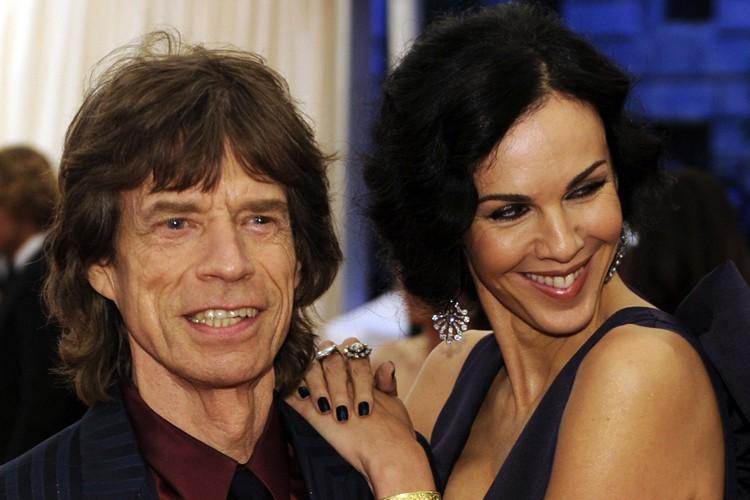 Mick Jagger et L'Wren Scott en mai 2012.... (Archives AFP)
