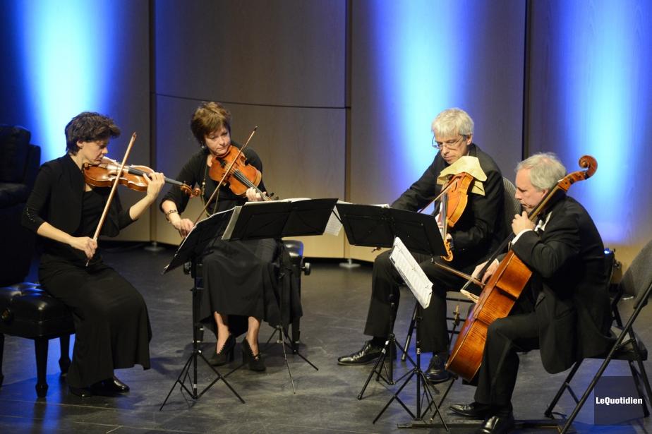 Le Quatuor Alcan marque ses 25 ans demain... (Photo: Jeannot Lévesque, Le Quotidien)