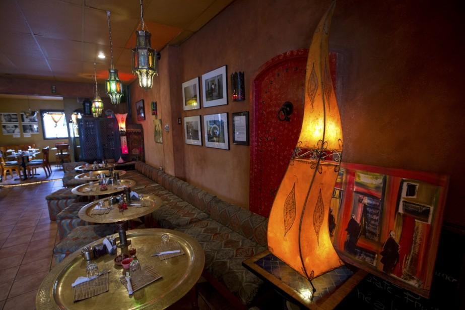 Le Salon Mogador, où tous les éléments décoratifs ont été directement importés du Maroc, est un excellent exemple d'équilibre: l'ensemble n'est pas trop chargé, ni trop léger. (Photo Ivanoh Demers, La Presse)