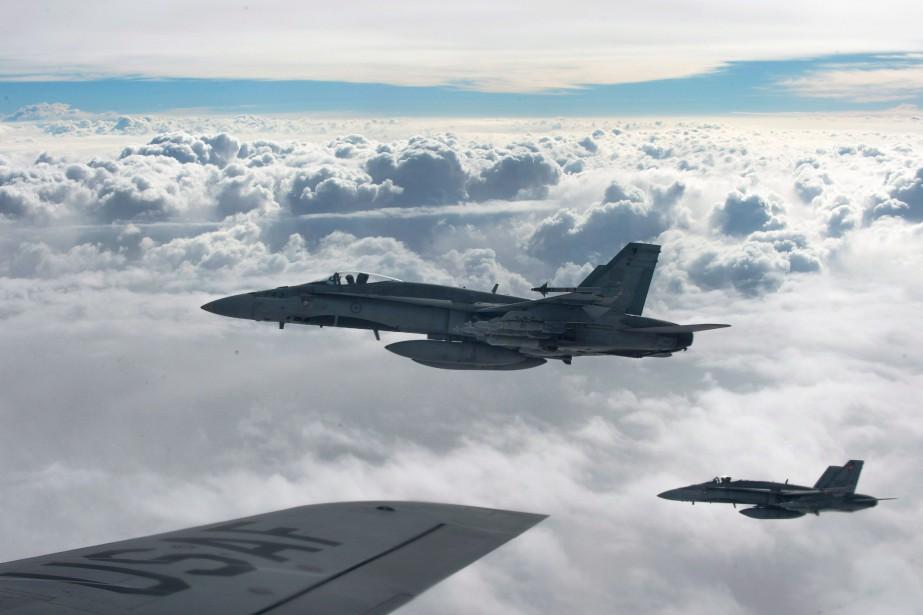 L'opération du CF-18 a eu lieu dans le... (Photo archives PC/Armée canadienne)