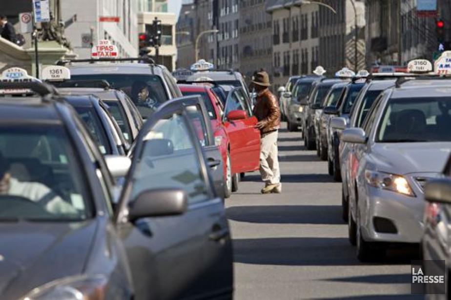 La manifestation des chauffeurs de... (PHOTO DAVID BOILY, ARCHIVES LA PRESSE)