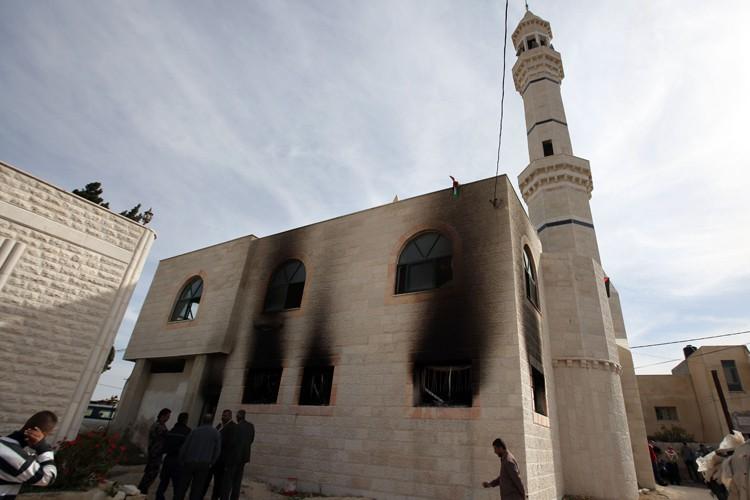 Une mosquée du village d'Al-Mougheir, proche de la... (Photo: AFP)
