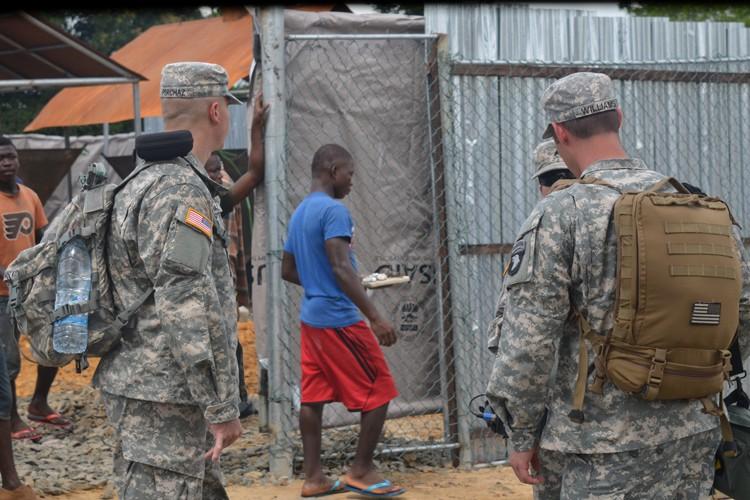 Près de 2200 soldats américains se trouvent actuellement... (Photo: AFP)