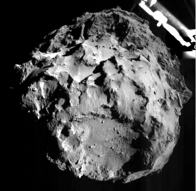 Le robot Philae, gros comme un frigo et... (Photo Agence France-Presse)