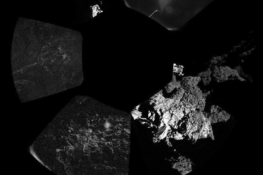 La surface de la comète.... (PHOTO REUTERS/ESA)
