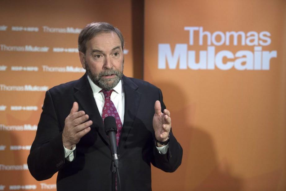 Le chef du NPD a indiqué que le... (Photo La Presse Canadienne)