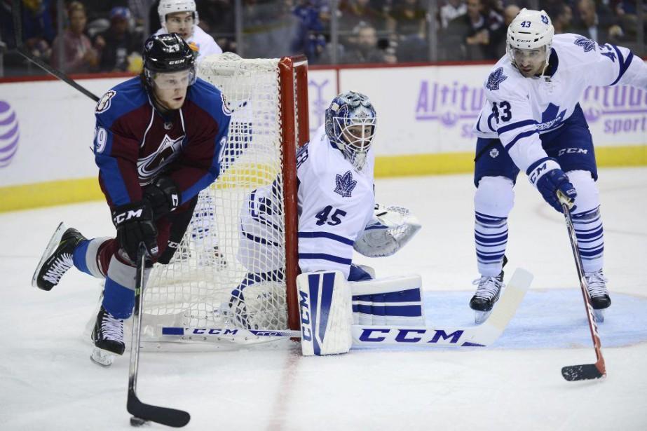 Nathan MacKinnon a créé l'égalité en troisième... (Photo USA Today Sports)