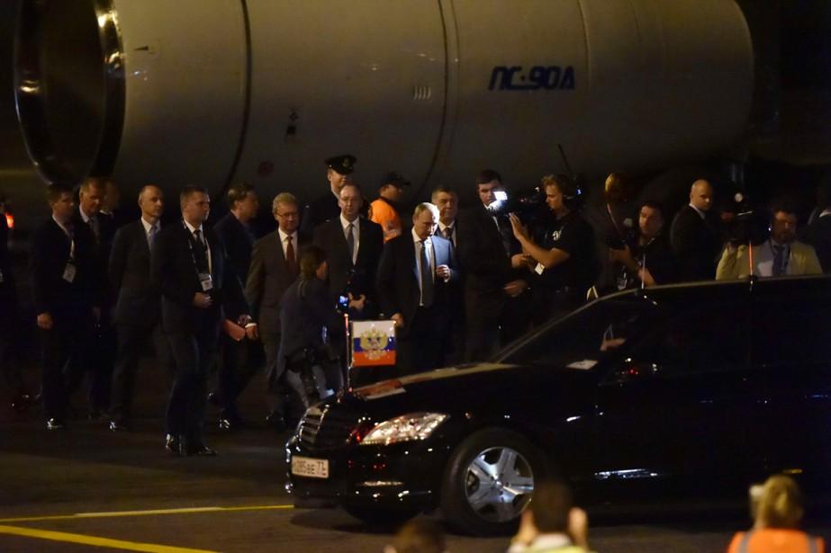 Le président Poutine est arrivé vendredi dans la... (PHOTO PETER PARKS, AFP)