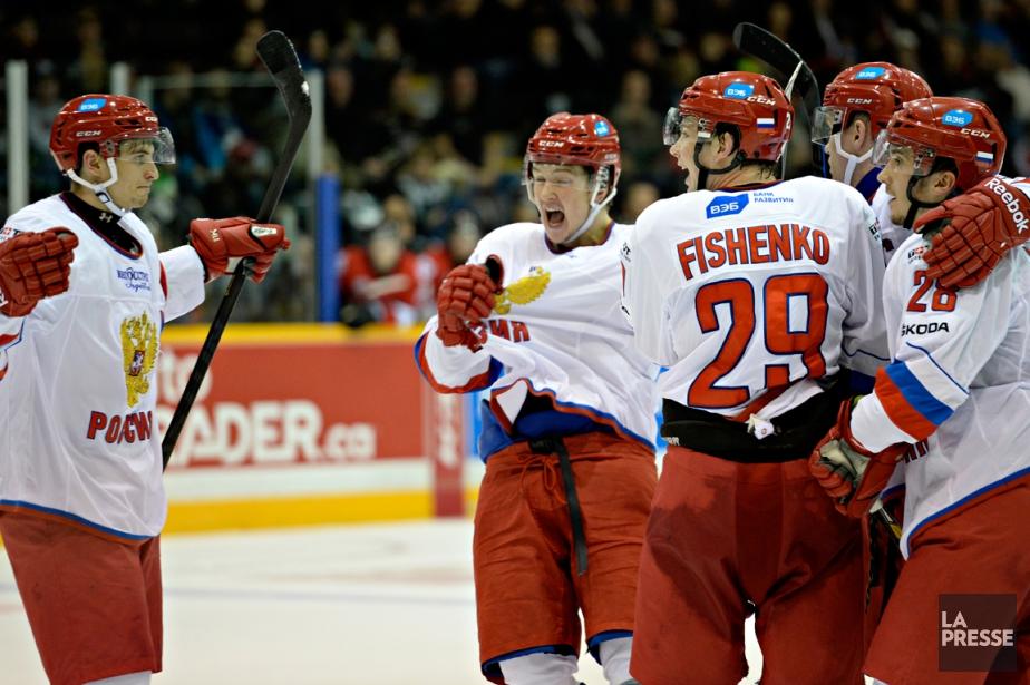 Les Russes ont gagné 4-0 contre les meilleurs... (Photo Bernard Brault, La Presse)