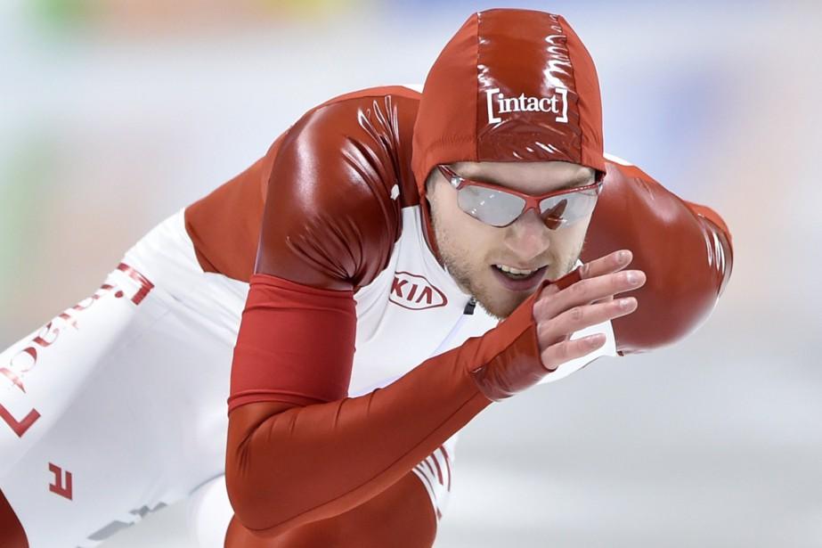 Le patineur québécois Laurent Dubreuil a terminé à... (Photo Kazuhiro Nogi, AFP)