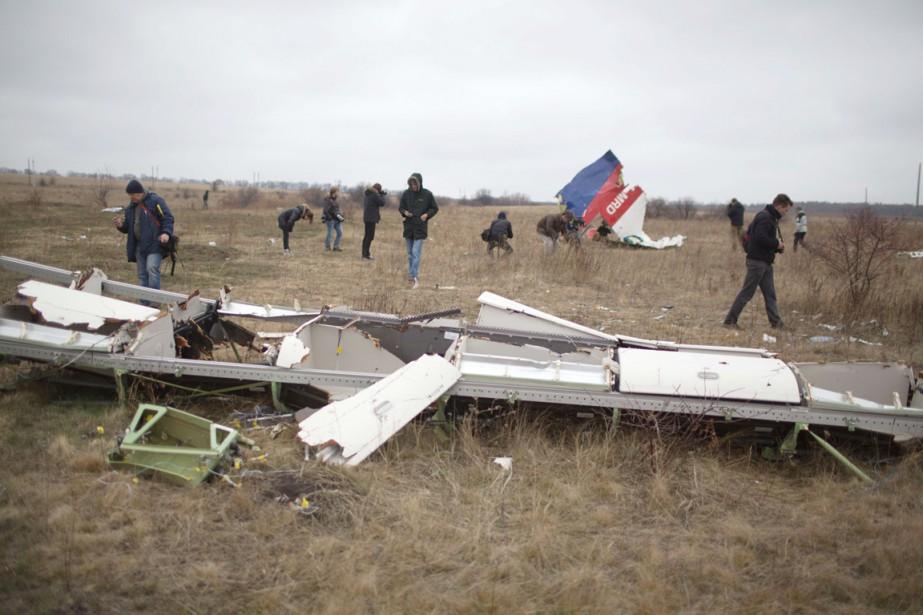 Un Boeing777 en provenance d'Amsterdam s'était écrasé le... (PHOTO MENAHEM KAHANA, ARCHIVES AFP)