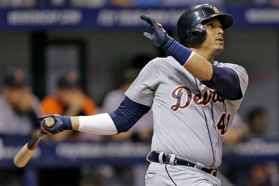 Victor Martinez a affiché une moyenne au bâton... (Photo Chris O'Meara, archives AP)