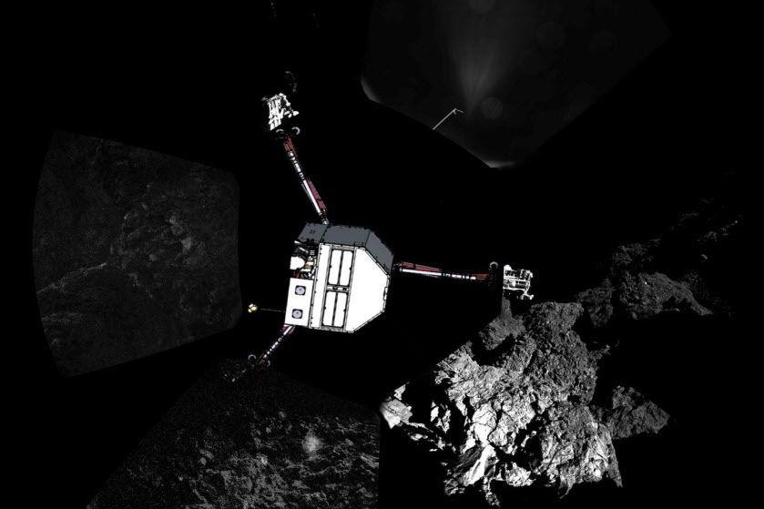 Le robot Philae... (PHOTO ESA/Rosetta/Philae/CIVA/AFP)