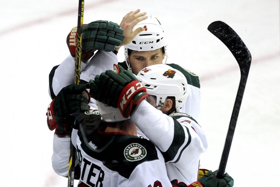 Le Wild a signé une deuxième victoire de... (Photo Matt Strasen, AP)