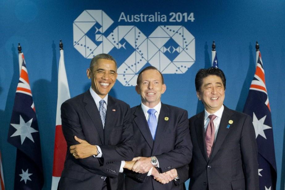 Le président américain Barack Obama, le premier ministre... (Photo Pablo Martinez Monsivais, AP)