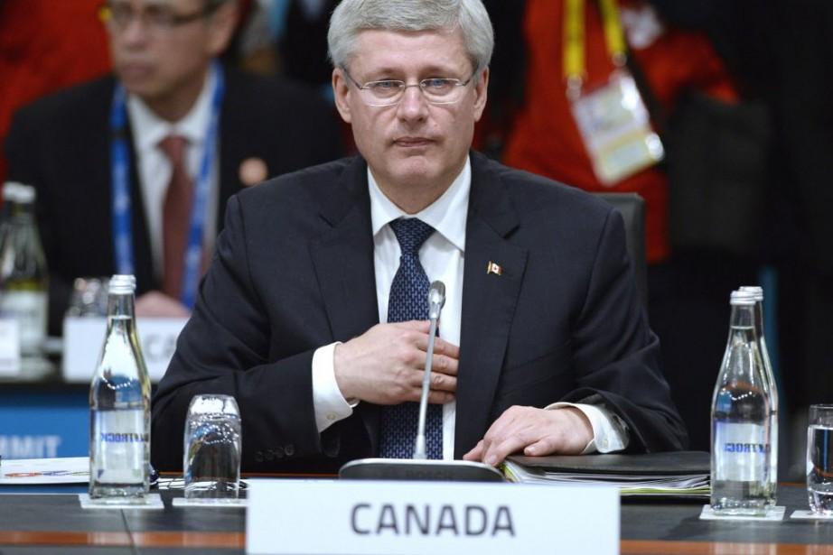 Le premier ministre canadien Stephen Harper n'a pas... (Photo Adrian Wyld, La Presse Canadienne)