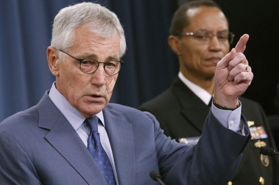 Le secrétaire américain à la Défense Chuck Hagel.... (PHOTO YURI GRIPAS, REUTERS)