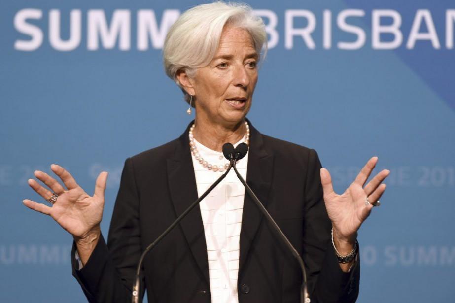 La présidente du Fonds Monétaire International (FMI),Christine Lagarde,... (PHOTO WILLIAM WEST, AFP)