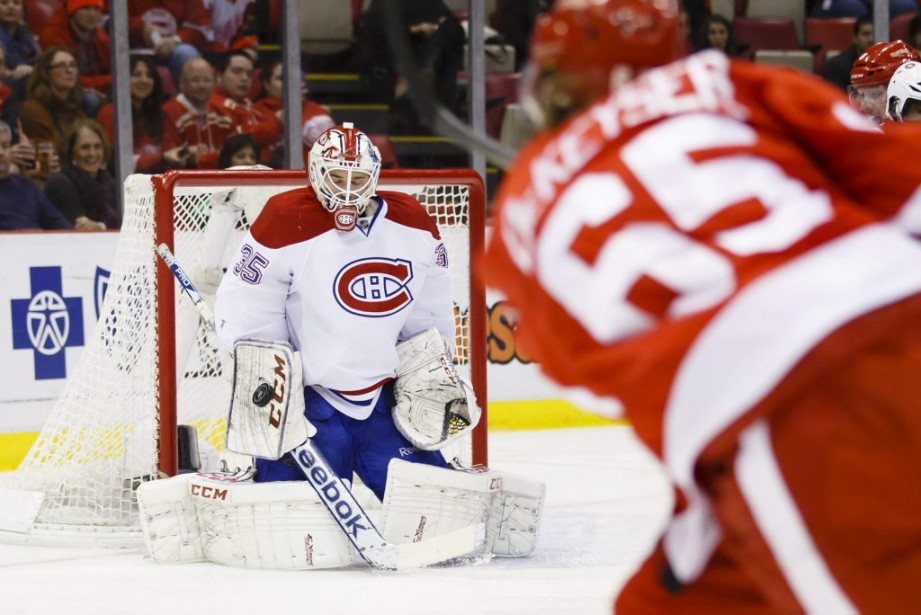 Dustin Tokarski arrête un tir. (Photo USA TODAY Sports)