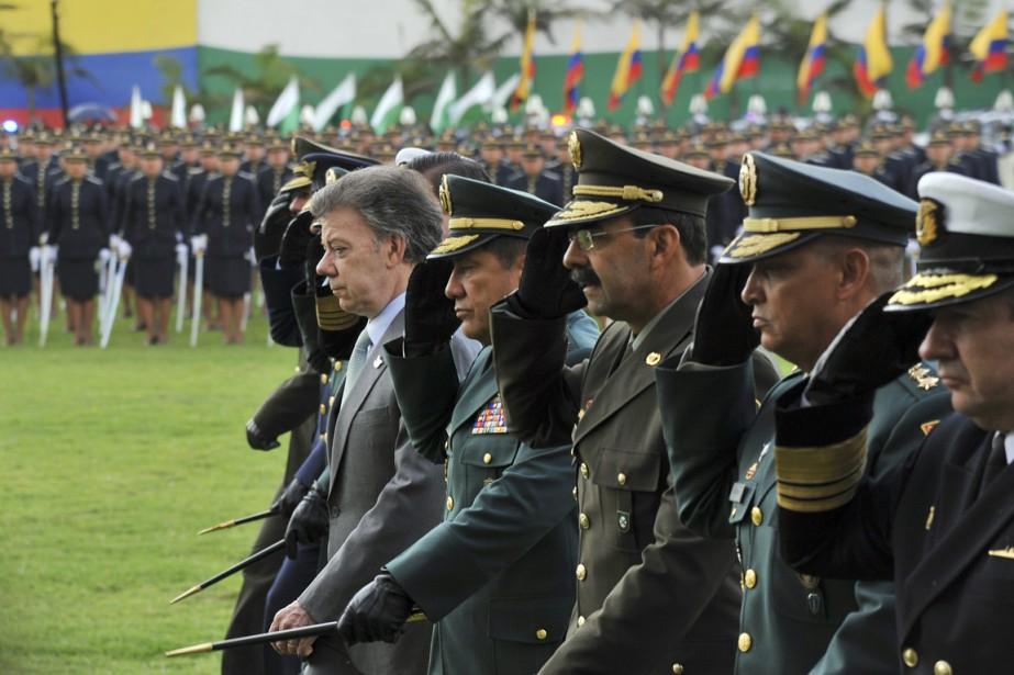 Le président Juan Manuel Santos participe à une... (PHOTO GUILLERMO LEGARIA, ARCHIVESAFP)