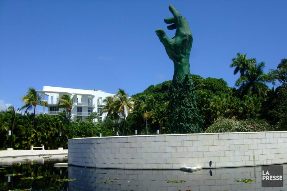 Inauguré en 1990, le mémorial de l'Holocauste, avec...