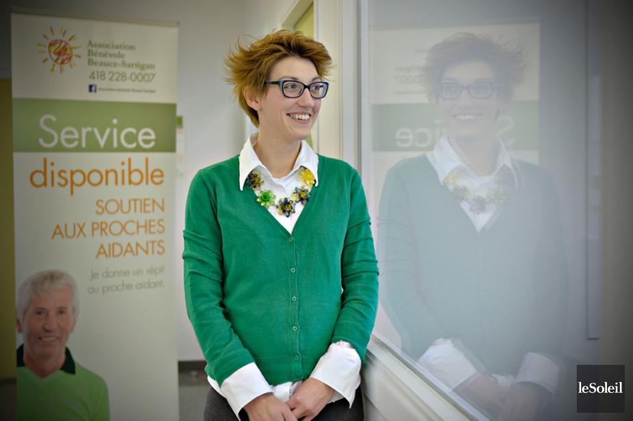 Marie-Claude Bilodeau, directrice générale de l'Association bénévole Beauce-Sartignan.... (PHOTO PASCAL RATTHÉ, LE SOLEIL)
