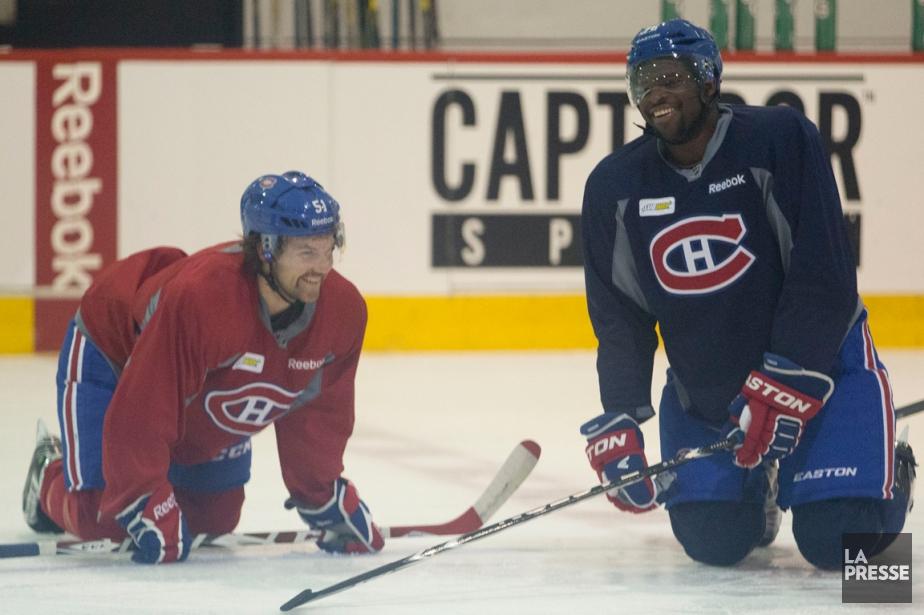 David Desharnais et P.K. Subban avaient l'air de... (Photo François Roy, La Presse)